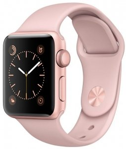 Смарт-часы Apple Watch 38mm Rose Gold with Pink Sand Sport Band (MNNH2)