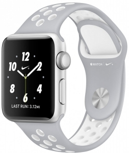 Смарт-часы Apple Watch Nike+ 38mm Silver with Flat Silver/White Nike Band (MNNQ2)