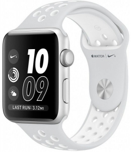 Смарт-часы Apple Watch Nike+ 38mm Silver with White Nike Sport Band (MQ172)