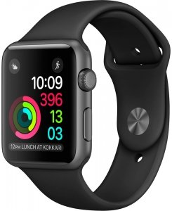 Смарт-часы Apple Watch Series 2 38mm Space Gray with Black Sport Band (MP0D2)