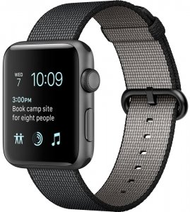 Смарт-часы Apple Watch Series 2 42mm Space Gray with Black Woven Nylon (MP072)