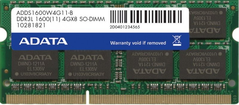 Модуль памяти A-Data ADDS1600W4G11-B DDR3 PC-12800 4Gb