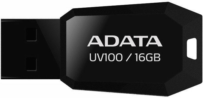 USB-флэш накопитель A-Data DashDrive UV100 16GB (AUV100-16G-RBK) фото