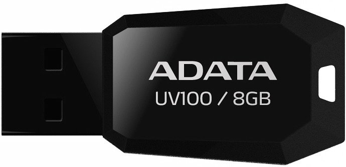 USB-флэш накопитель A-Data DashDrive UV100 8GB (AUV100-8G-RBK) фото