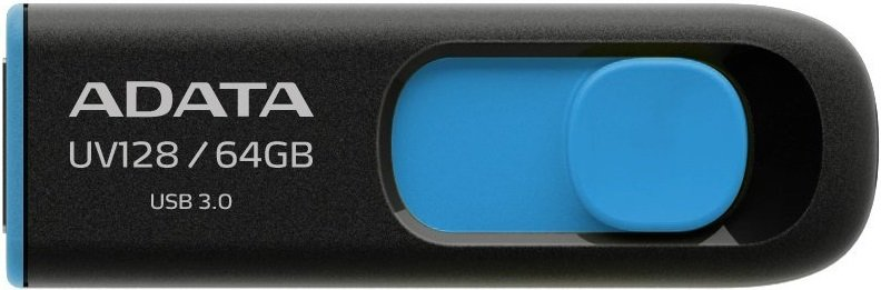 USB-флэш накопитель A-Data DashDrive UV128 64GB (AUV128-64G-RBE) фото