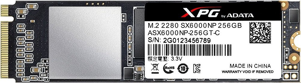 Жесткий диск SSD A-Data XPG SX6000 (ASX6000NP-256GT-C) 256Gb фото