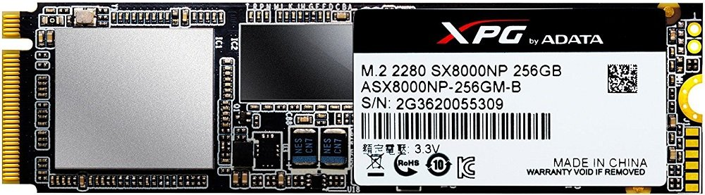 Жесткий диск SSD A-Data XPG SX8000 (ASX8000NP-256GM-C) 256Gb