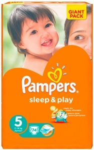 Подгузники Pampers Sleep & Play 5 Junior (11-18 кг) 74 шт