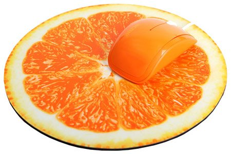 Компьютерная мышь Acme Mini Mouse + Mouse pad MN-07 (orange) фото