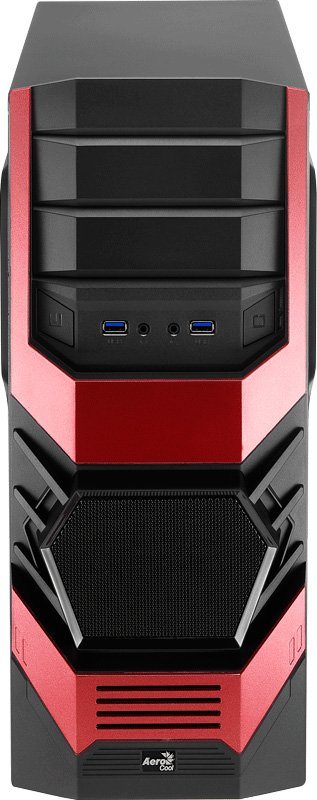 Корпус для компьютера AeroCool Cyclops Advance Red