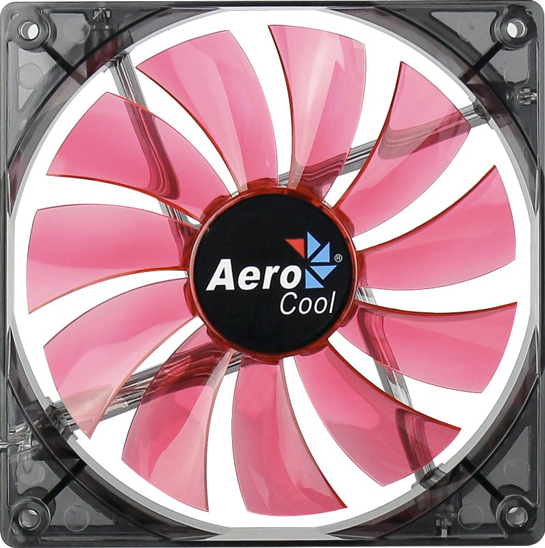 Вентилятор Aerocool Lightning Red Edition 14cm