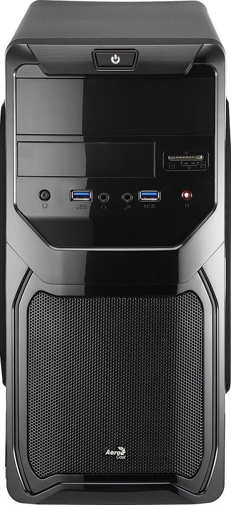 Корпус для компьютера Aerocool Qs-183 Advance Black 450W фото