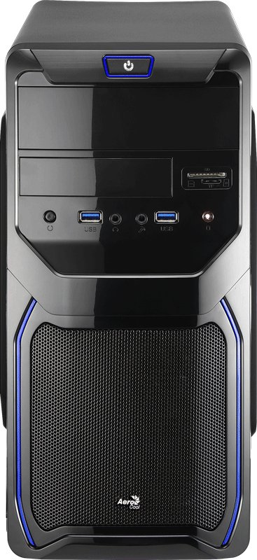Корпус для компьютера Aerocool Qs-183 Advance Blue