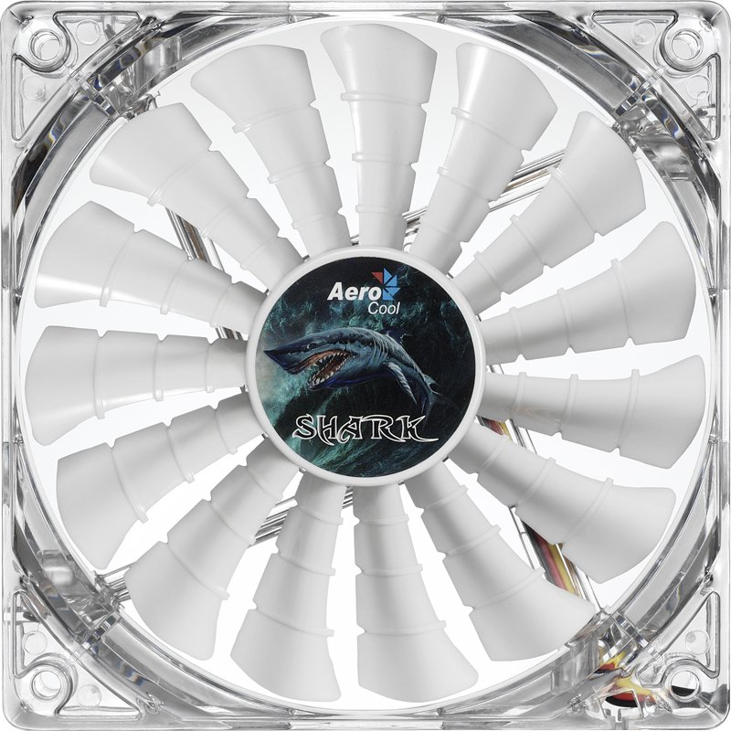 Вентилятор Aerocool Shark Fan White Edition 12cm