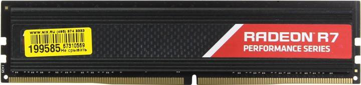Модуль памяти AMD Radeon R7 Performance R744G2400U1S DDR4 PC4-19200 4Gb