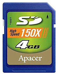 ����� ������ Apacer SD 150X 4GB