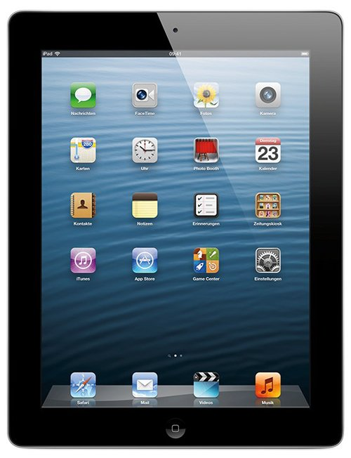 Планшет Apple iPad 4 Wi-Fi 16GB (MD510)