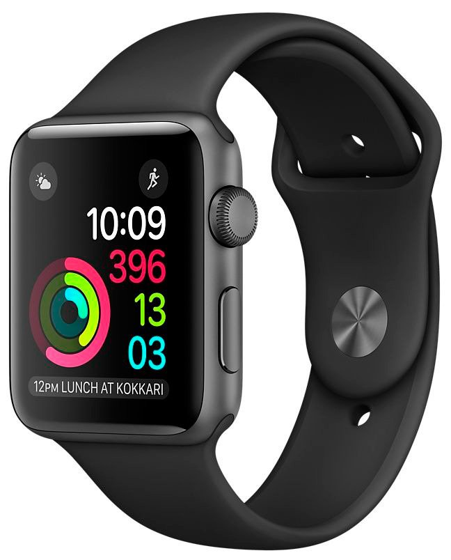 Смарт-часы Apple Watch 38mm Space Gray with Black Sport Band (MP022)