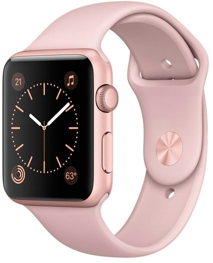 Смарт-часы Apple Watch 42mm Rose Gold with Pink Sand Sport Band (MQ112)