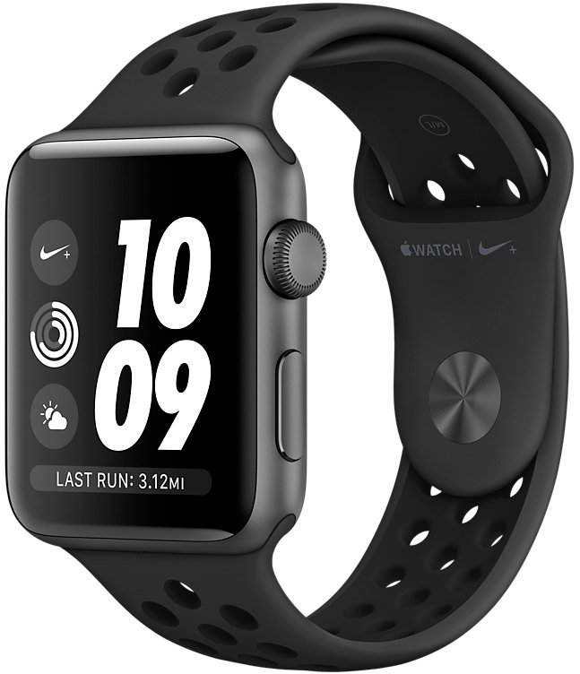 Смарт-часы Apple Watch Nike+ 38mm Space Gray Aluminium Case with Anthracite/Black Nike Sport Band (MQKY2)