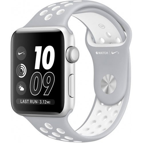 Смарт-часы Apple Watch Nike+ 42mm Silver with Flat Silver/White Nike Band (MNNT2)