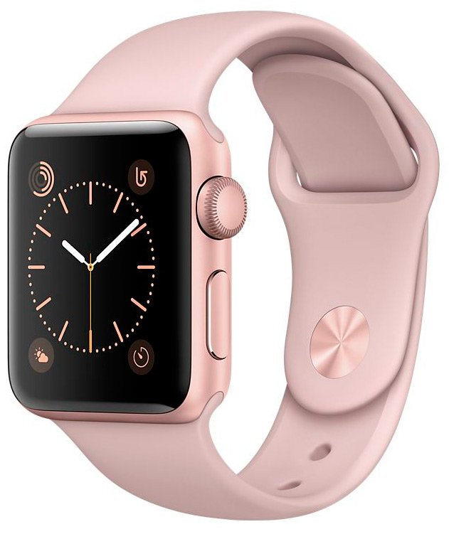 Смарт-часы Apple Watch Series 2 38mm Rose Gold with Pink Sand Sport Band (MNNY2)