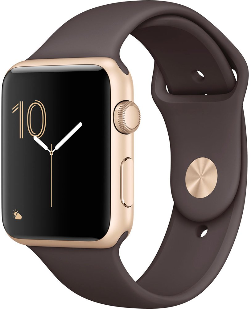 Смарт-часы Apple Watch Series 2 42mm Gold with Cocoa Sport Band (MNPN2)