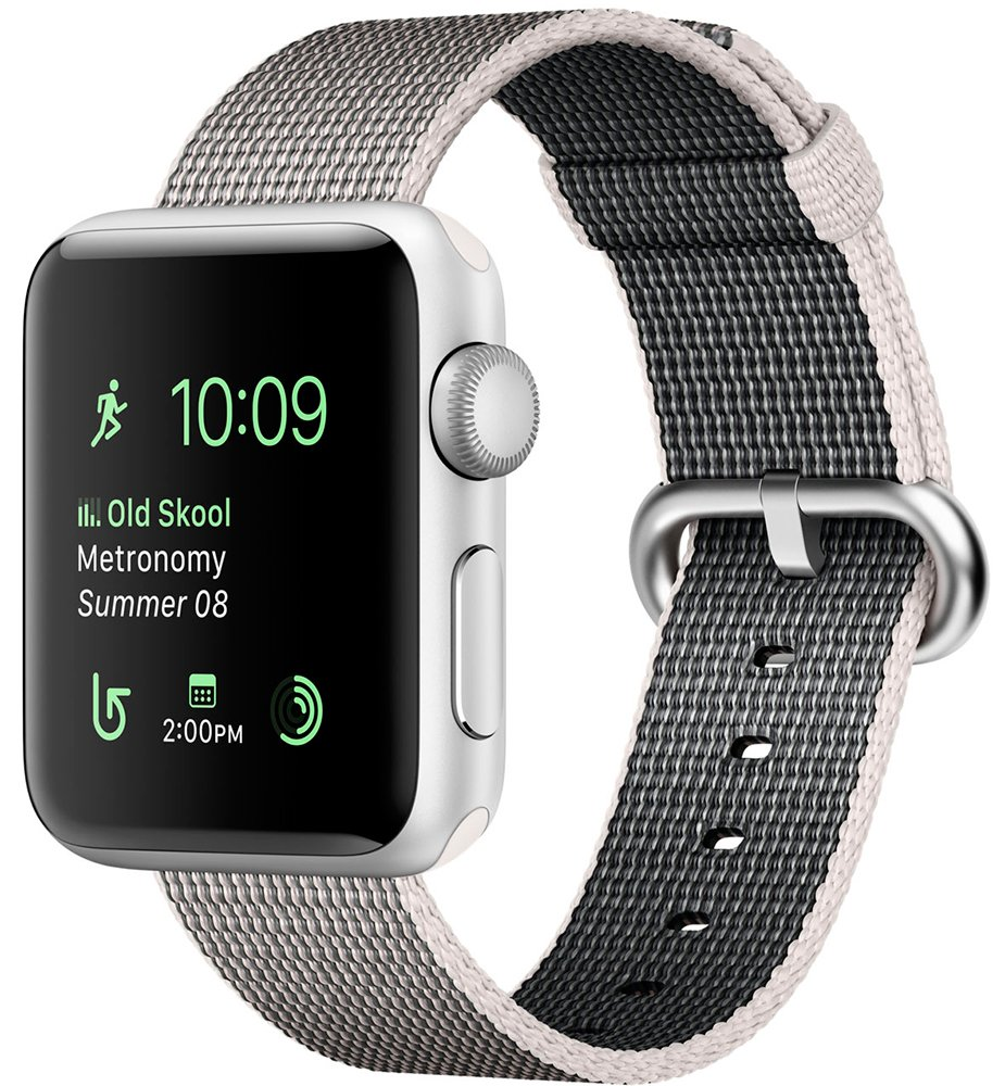 Смарт-часы Apple Watch Series 2 42mm Silver with Pearl Woven Nylon (MNPK2)