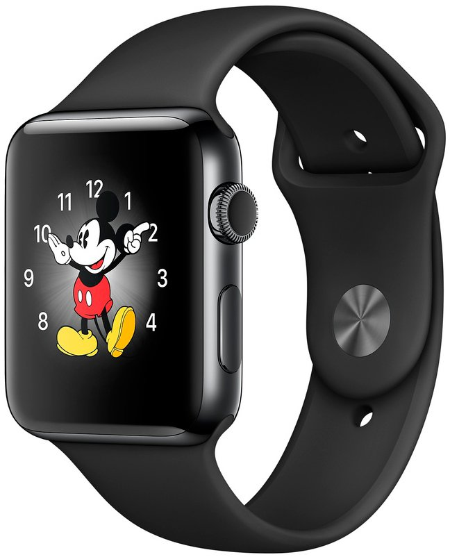 Смарт-часы Apple Watch Series 2 42mm Space Black Stainless Steel with Black Sport Band (MP4A2)