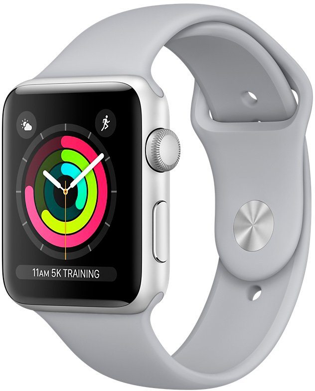 Смарт-часы Apple Watch Series 3 42mm Silver Aluminum Case with Fog Sport Band (MQL02) фото