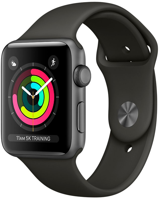 Смарт-часы Apple Watch Series 3 42mm Space Gray Aluminum Case with Gray Sport Band (MR362) фото