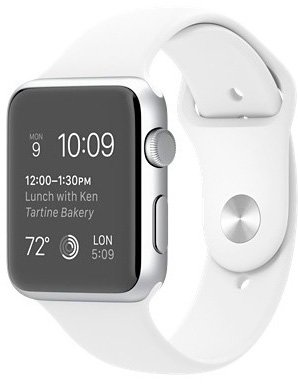 Смарт-часы Apple Watch Sport 42mm Silver with White Sport Band (MJ3N2)