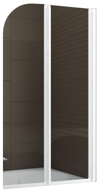 Шторка на ванну Aquaform MODERN 2 Clear White 81x140 (170-06965)