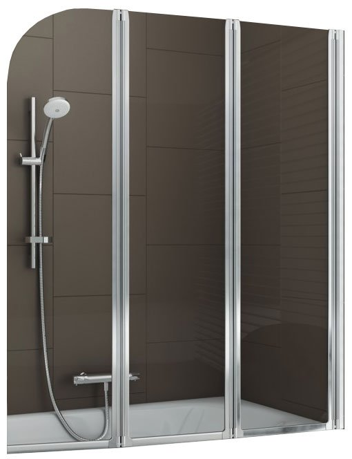 Шторка на ванну Aquaform MODERN 3 Clear Matt Chrome 120x140 (170-06956)