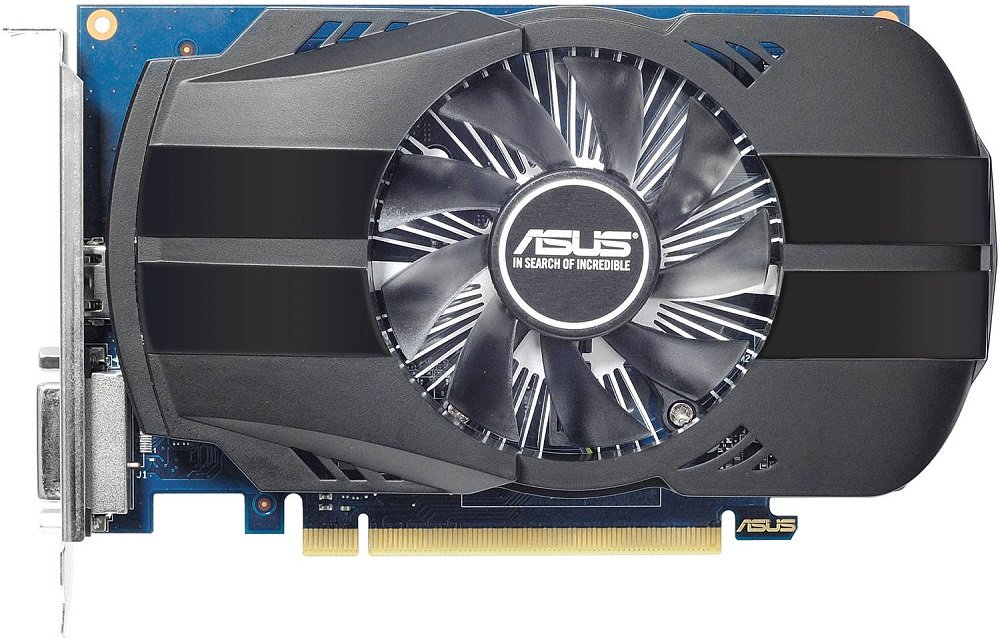 Видеокарта Asus PH-GT1030-O2GD4 NVIDIA GeForce GT 1030 2Gb GDDR4 64bit фото