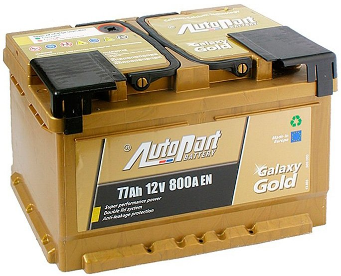 Аккумулятор AutoPart Galaxy Gold R+ (77Ah)