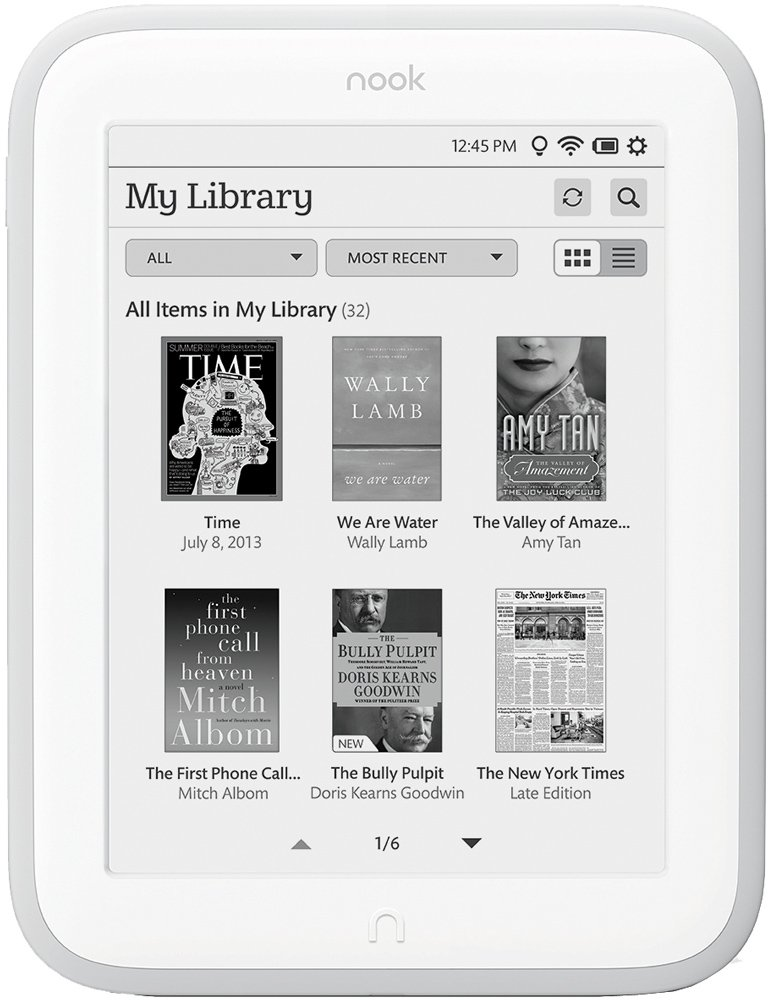 Электронная книга Barnes & Noble NOOK GlowLight
