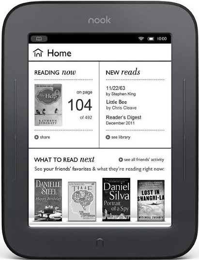 Электронная книга Barnes & Noble NOOK Simple Touch