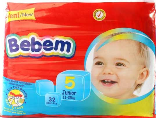 Подгузники Bebem 5 Junior (11-25 кг) 32 шт