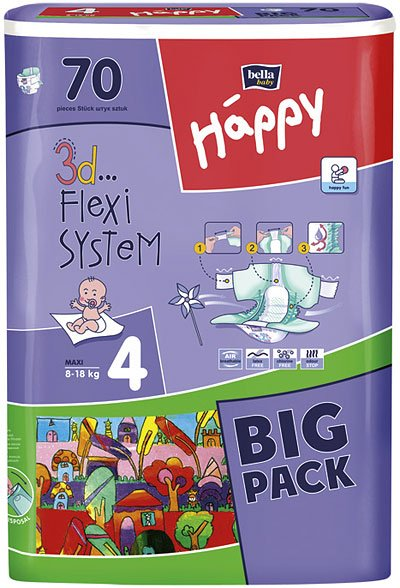 ���������� BELLA baby Happy 4 MAXI (8-18 ��) Big Pack 70 ��