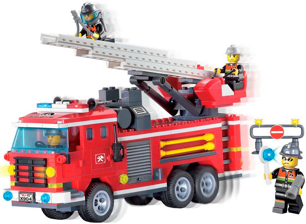 Конструктор Brick Fire Rescue 904 Пожарная машина фото