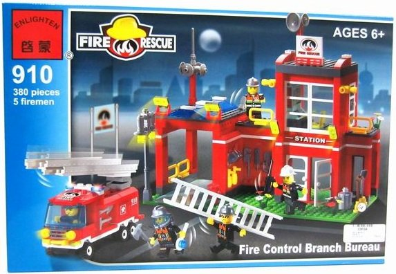 Конструктор Brick Fire Rescue 910 Пожарная станция