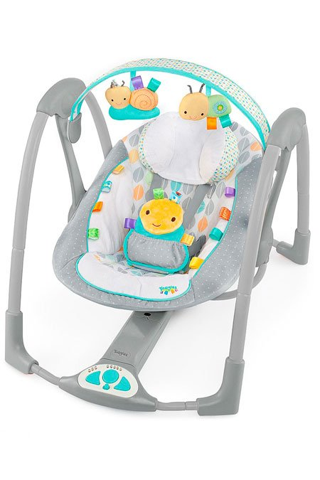 Детские качели Bright Starts Taggies Swing N Go Portable Swing Улитка 60124