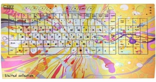 Клавиатура CBR Picture Keyboard Splashes  фото