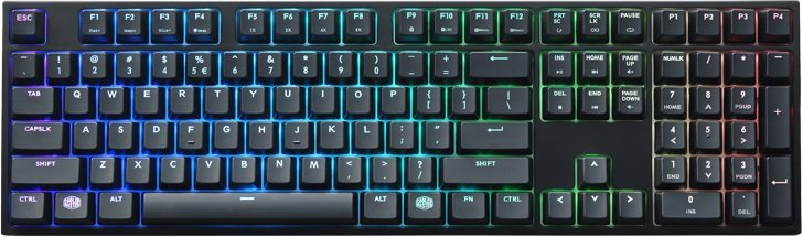 Клавиатура Cooler Master MasterKeys Pro L RGB Cherry MX Red фото