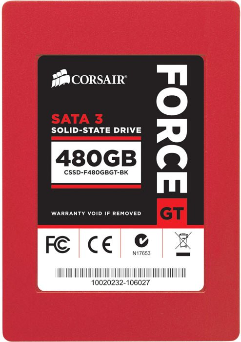 Жесткий диск SSD Corsair Force Series GT (CSSD-F480GBGT-BK) 480 Gb