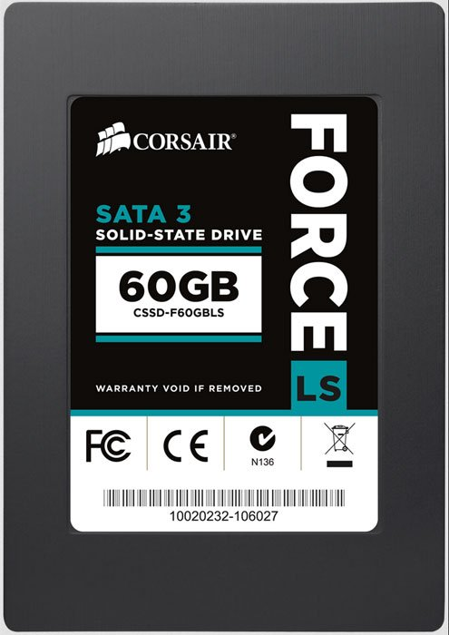 Жесткий диск SSD Corsair Force Series LS (CSSD-F60GBLS) 60 Gb фото