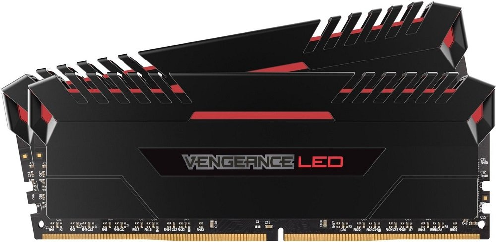 Комплект памяти Corsair Vengeance LED CMU16GX4M2C3200C16R DDR4 PC4-25600 2x8Gb фото