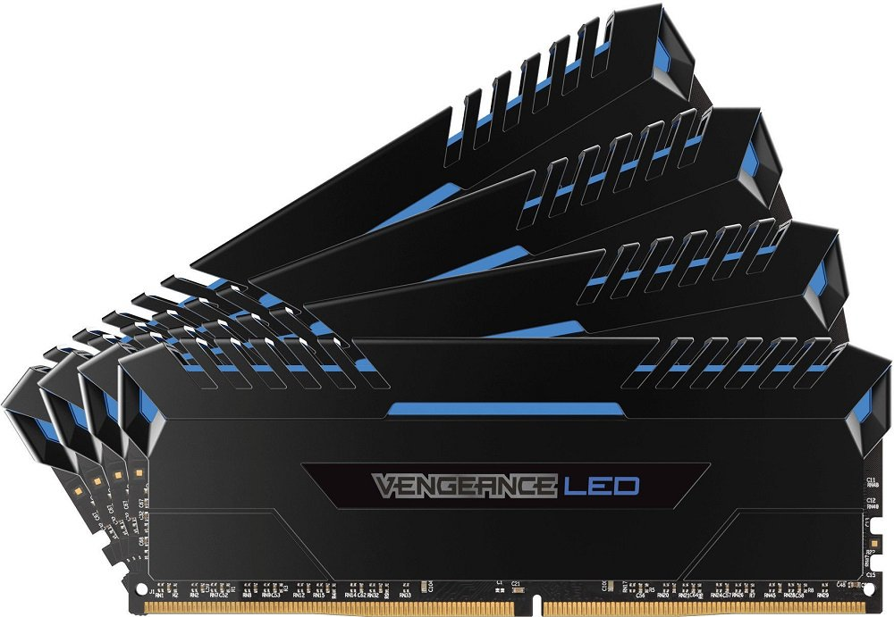 Комплект памяти Corsair Vengeance LED CMU32GX4M4C3000C16B DDR4 PC4-24000 4x8Gb фото