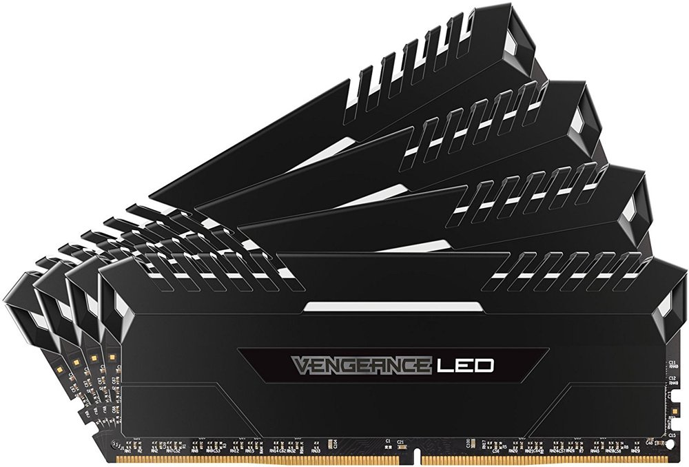 Комплект памяти Corsair Vengeance LED CMU32GX4M4D3000C16 DDR4 PC4-24000 4x8Gb фото